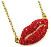 Butler & Wilson Butler and Wilson Hot Red Lips Pendant
