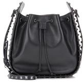 Valentino Garavani Rockstud Noir leather bucket bag