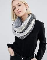 Eugenia Kim Genie By Dakota Cream And Grey Ombre Knit Scarf