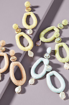 Anthropologie Dawn Drop Earrings By in Green Size ALL
