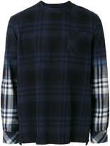 Sacai checked sweatshirt