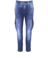 High Bronco Cropped Pinstripe Jeans