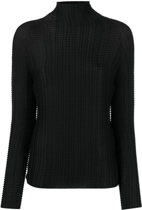 Issey Miyake Pleated Rollneck Top