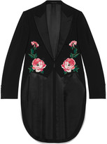 Gucci Embroidered wool mohair tailcoat