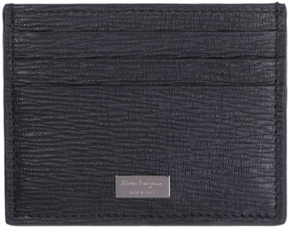 Salvatore Ferragamo Pebbled Leather Card Holder