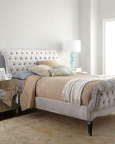 Haute House Silver Tufted California King Bed