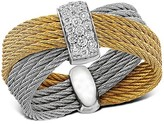 Alor Diamond Yellow & Gray Multi-Band Cable Ring