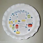 Martha Stewart Blueberry Pie Dish Ceramic Macys 15126