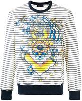 Etro striped tiger print sweatshirt - men - Cotton - S