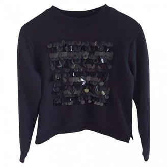 Whistles Black Glitter Top for Women