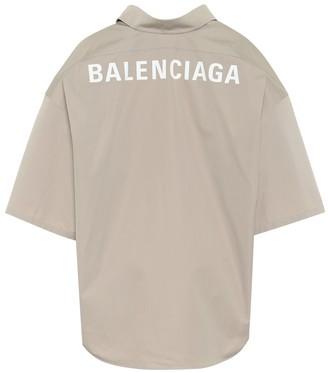 Balenciaga Swing oversized cotton shirt