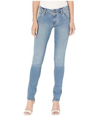 Hudson Jeans Collin Mid-Rise Skinny Flap Pocket Jeans in Headliner