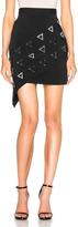 David Koma Asymmetric Metal Embroidered Skirt