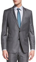 HUGO BOSS Huge Genius Slim-Fit Basic Sharkskin Suit, Gray/Teal