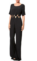 Mono B Black Cutout Jumpsuit