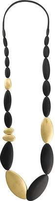 Monies Jewellery long two-tone necklace