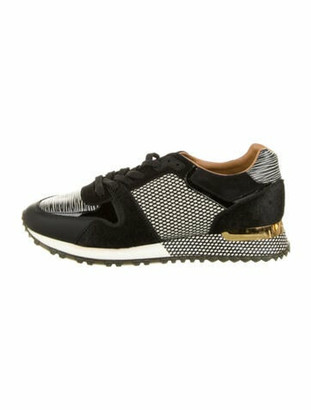Louis Vuitton Colorblock Pattern Sneakers Black