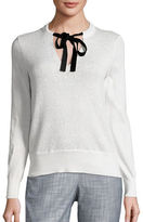 MICHAEL Michael Kors Tie-Neck Shimmer Sweater