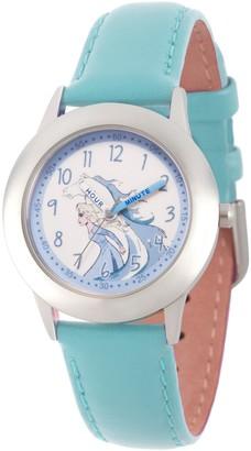 Disney Frozen 2 Girls' Elsa Blue Leather StrapWatch