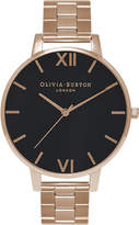 Olivia Burton OB15BL23 Big Dial rose gold-plated watch
