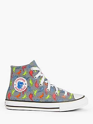 Converse Children's Chuck Taylor All Star High Top Dinoverse Trainers, Cool Grey