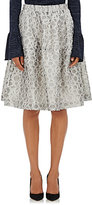 Co Women's Dot-Pattern A-Line Skirt-WHITE
