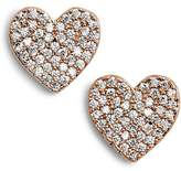 Kate Spade Yours Truly Pave Heart Stud Earrings