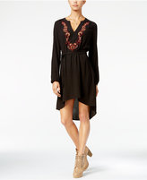 Jessica Simpson Jaelyn Embroidered High-Low Peasant Dress