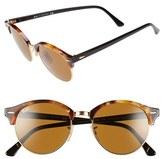 Ray-Ban Women's 'Clubround' 51Mm Round Sunglasses - Black/ Havana