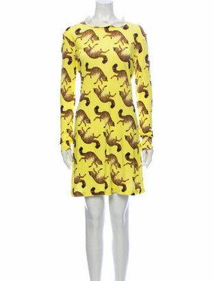 Opening Ceremony Printed Mini Dress w/ Tags Yellow