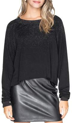 Chrldr Glitz Cropped Fleece Sweatshirt