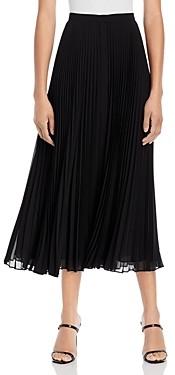 Theory Pleated Chiffon Midi Skirt