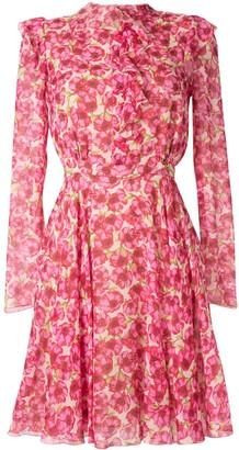 Giambattista Valli floral long-sleeve dress