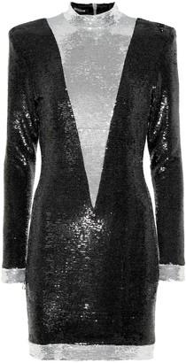 Balmain Sequinned minidress