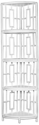 David Francis Furniture Tinley Etagere - White