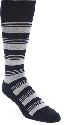 Nordstrom CoolMax(R) Stripe Tall Dress Socks