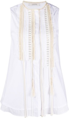 Dorothee Schumacher Embroidered Sleeveless Blouse