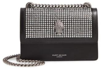 Kurt Geiger London Small Shoreditch Crystal Embellished Leather Crossbody Bag