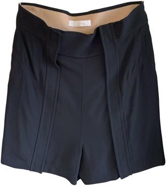 Chloé Black Synthetic Shorts