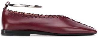 Jil Sander Stitch Detail Ballet Flats
