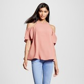 Lily Star Women's Cold Shoulder High Neck Top Juniors')