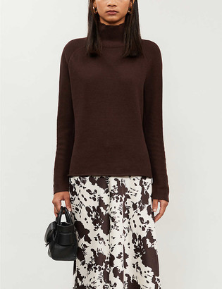Whistles Phillipa turtleneck cotton and recycled-polyester knitted jumper