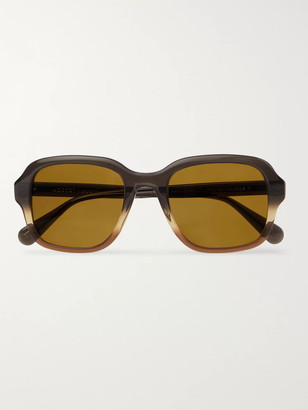 MOSCOT Megillah Square-Frame Gradient Acetate Sunglasses