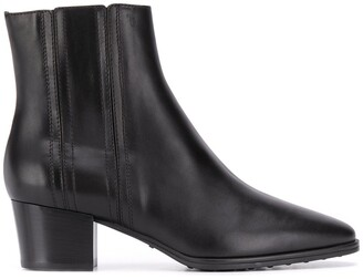 Tod's 50mm Stretch Leather Ankle Boots