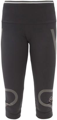 adidas by Stella McCartney Truepace Jersey Cropped Leggings - Black