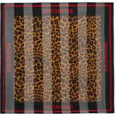 Balenciaga Printed Silk-chiffon Scarf - Black