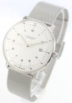 Junghans Men's 'Max Bill' Automatic Stainless Steel Dress Watch, Color:Silver-Toned (Model: 027/4700.00.M)