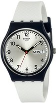 Swatch Men's GN720 Analog Display Quartz White Watch