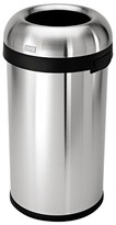Simplehuman 60 Liter Bullet Open Trash Can in Brushed Stainless Steel