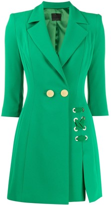 Elisabetta Franchi fitted double-breasted coat
